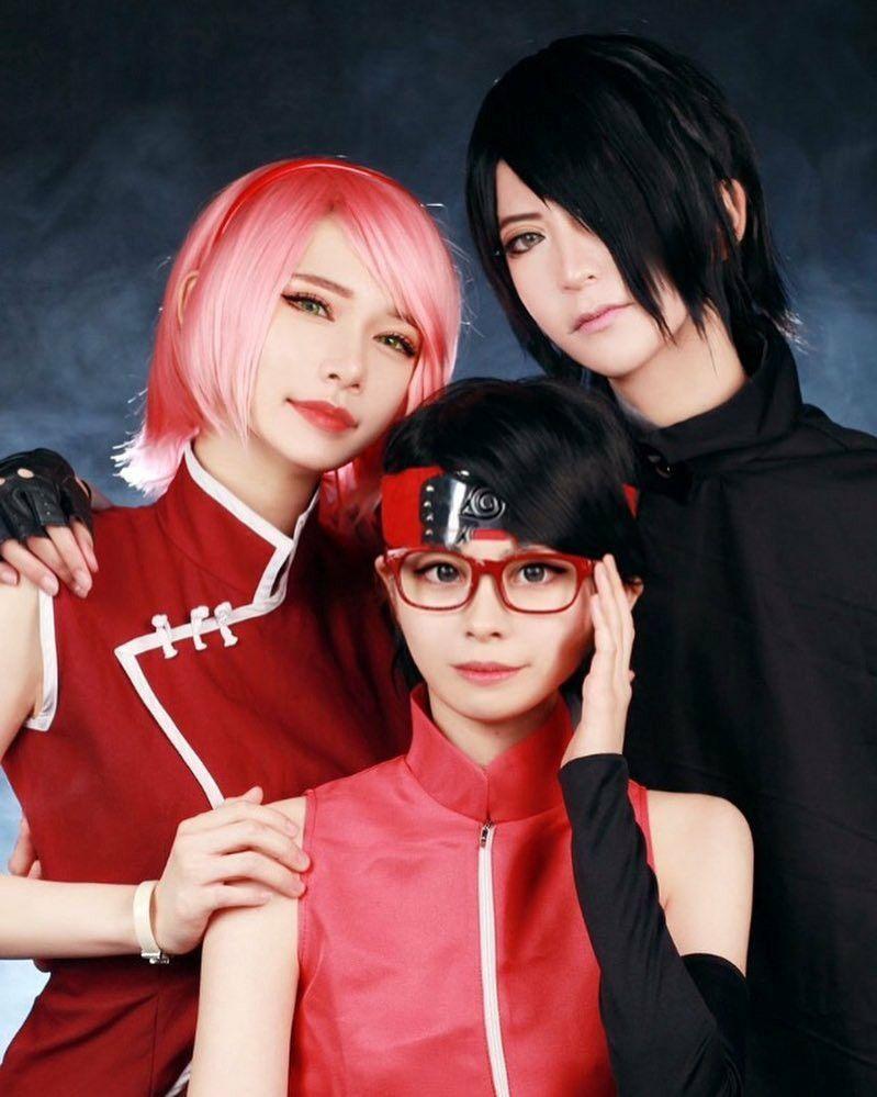 Sasusaku Family Sasuke Sarada Sakura Cosplay Naruto