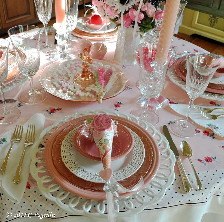 Romantic Blush Pink Tablescape That Will Make Your Guests Swoon Entertaining Diva From House To Home Pink Tablescape White Table Settings Pink Table Settings