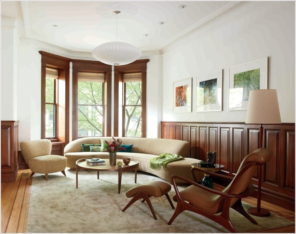 traditional wainscoting w/ modern furniture (With images ...