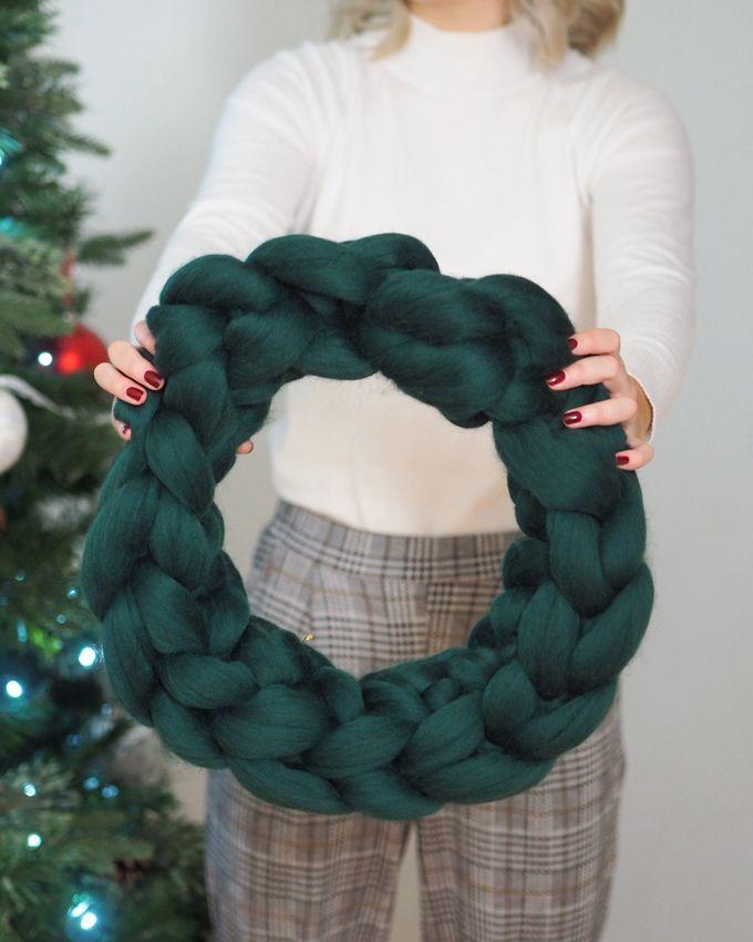 Photo of DIY crocheted wreath