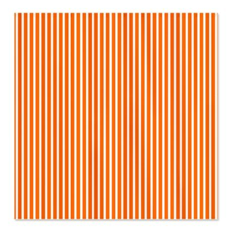 Orange Pinstripe Shower Curtain Make Into Curtains For Their