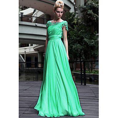 LICHFIELD - Vestido de Noche de Gasa y Encaje – USD $ 299.99