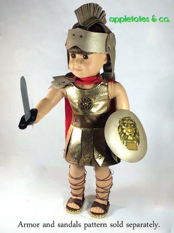Make a Roman Gladiator Halloween Costume for American Girl Dolls
