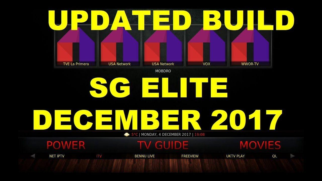 Sg elite best and updated kodi build december kodi
