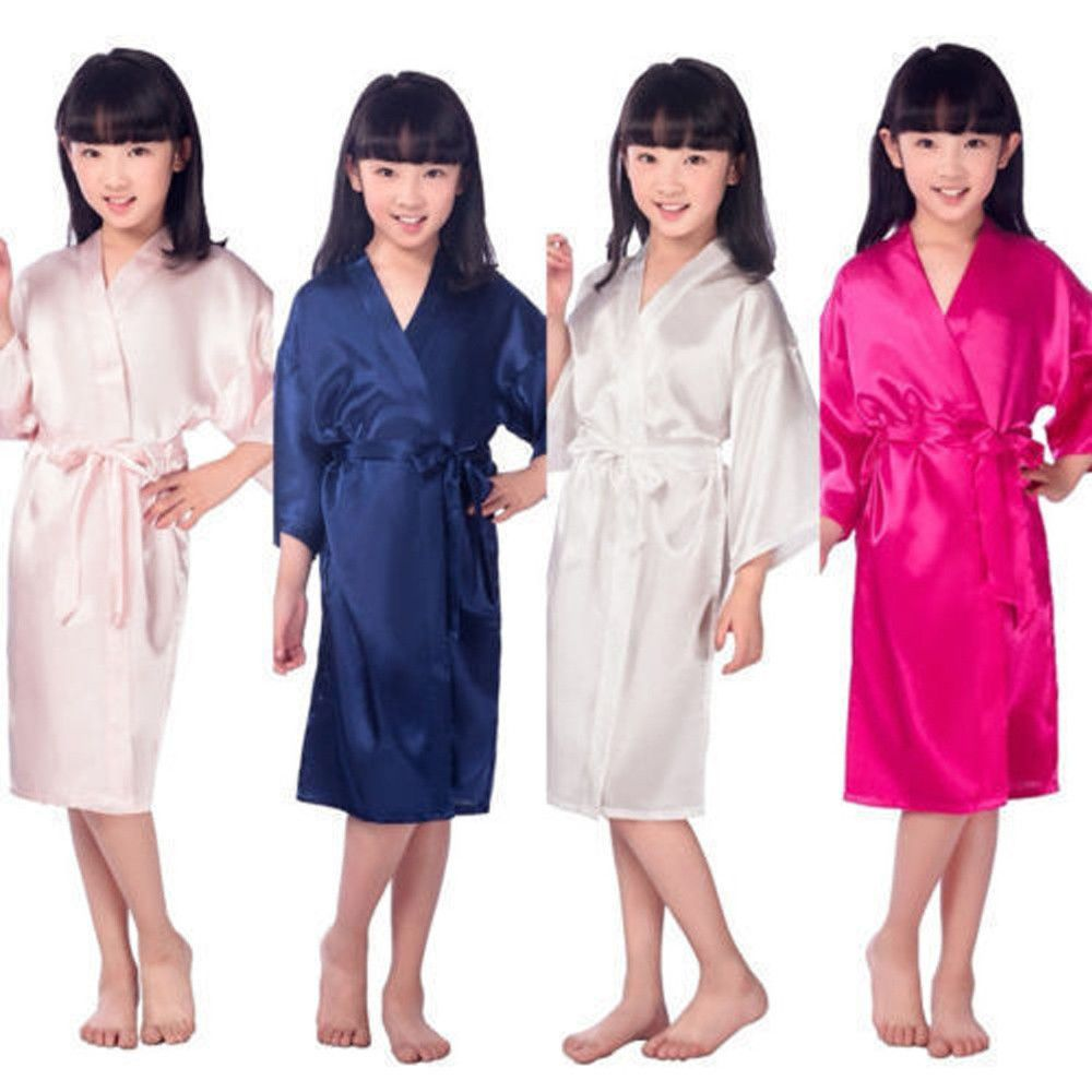 Kids Girls Children Kimono Gown Bath Robe Cotton Lace Sleepwear Robes Pajamas Innovatis Suisse Ch