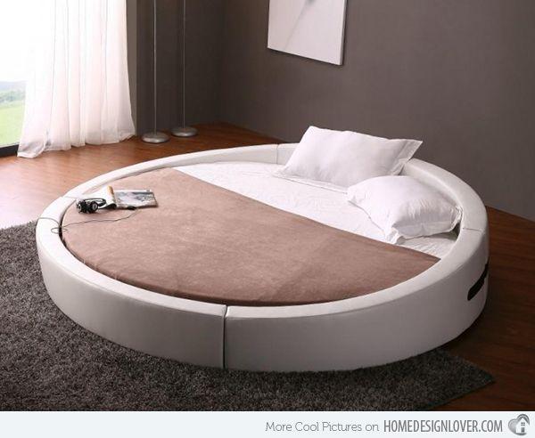 15 Fashionable Round Platform Beds Home Design Lover Circle Bed Modern Bedroom Furniture Round Beds