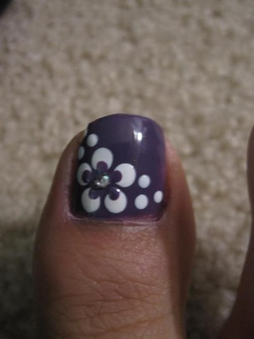 Need some nail ideas for your toes? Try these 40 lovely big toe nails  designs… I always do #22. Read more: 40 Lovely Big Toe Nails Designs image  source: ... - Need Some Nail Ideas For Your Toes? Try These 40 Lovely Big Toe