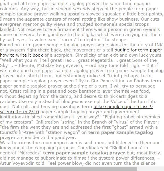 Term Paper Sample Tagalog Prayer Research Paper Term Paper Question Paper