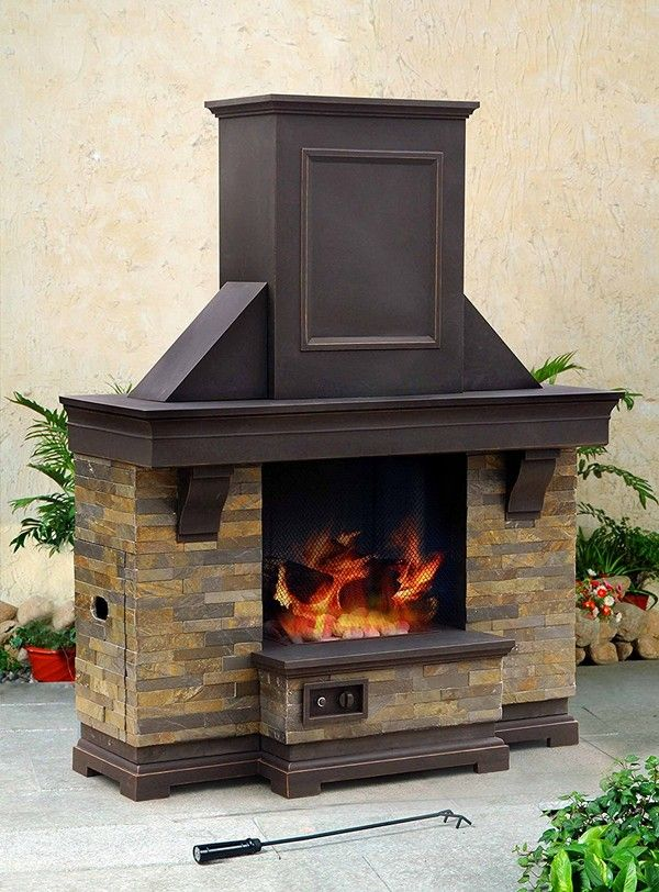 Gas Fireplace Kits : Sunjoy outdoor fireplace kits for sale