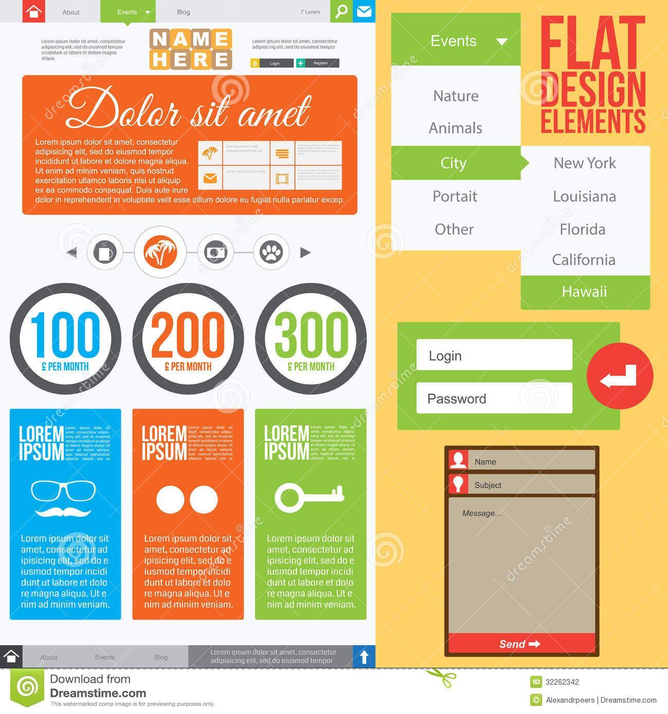 Design elements banner - Web Design Elements Flat Design Google Search