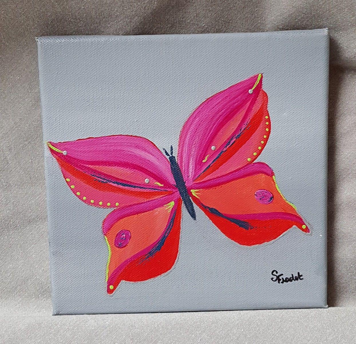 Tableau Acrylique Decoration Chambre Enfant Modele Papillon Ii Decoration Chambre Enfant Tableau Acrylique Peinture Papillon
