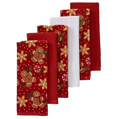 The Big One Christmas Gingerbread Kitchen Towels 6pack Read