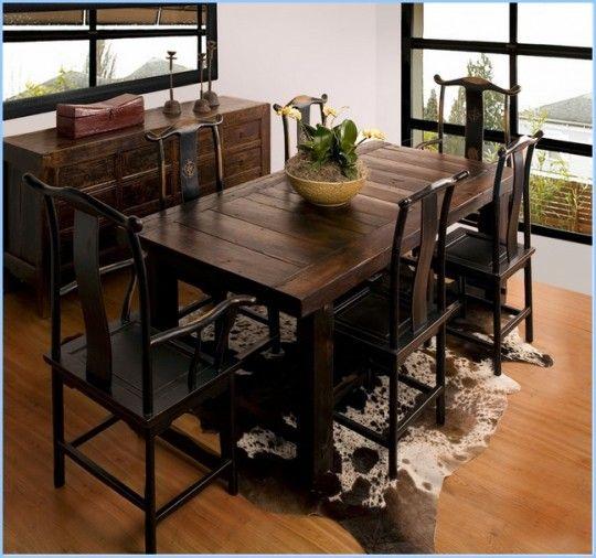 Decoration Narrow Dining Table