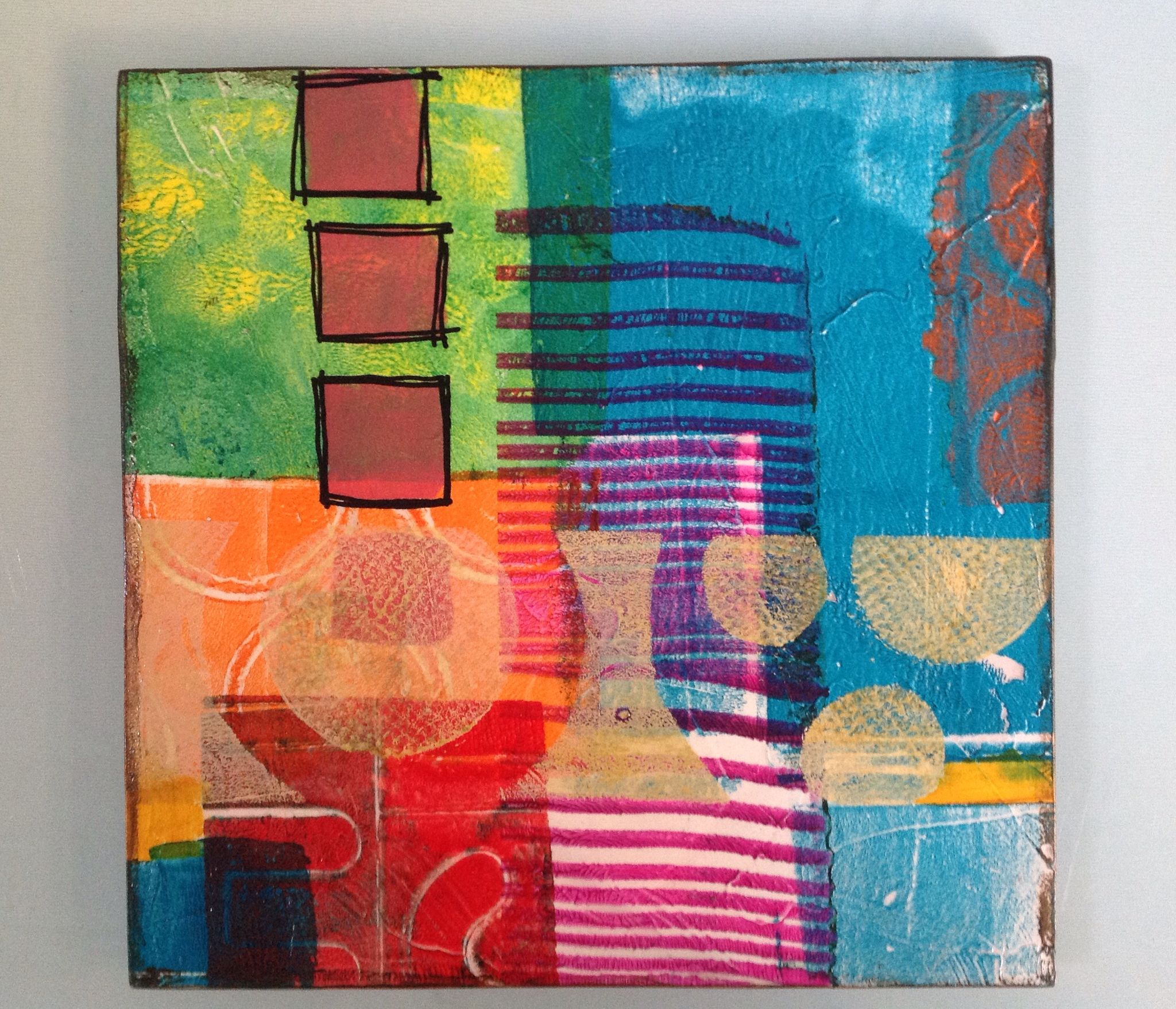 Abstracto con Gelli Plate