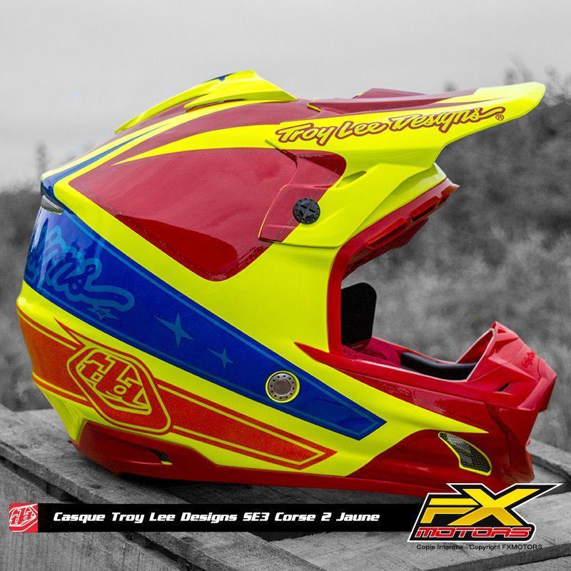 Mx TROY LEE DESIGNS SE3 HELMET 2017 CORSE 2 YELLOW Enduro Offroad Helmet