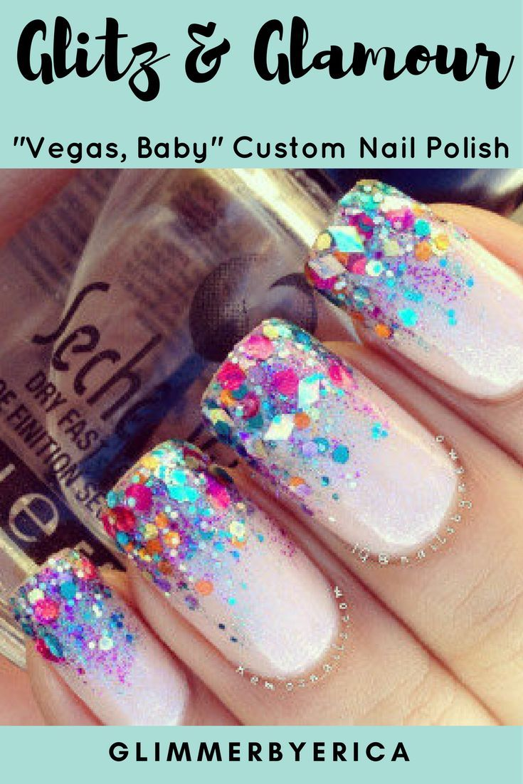 This polish is stunning! It has silver holographic micro glitter ...
