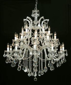 Maria Theresa 5 Light Crystal Chandelier CHROME