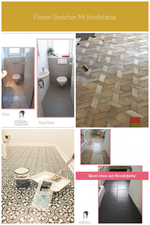 Mit Kreidefarbe Fliesen Im Badezimmer Streichen Tiles Flooring Fliesen Streichen Mit Kreidefarbe
