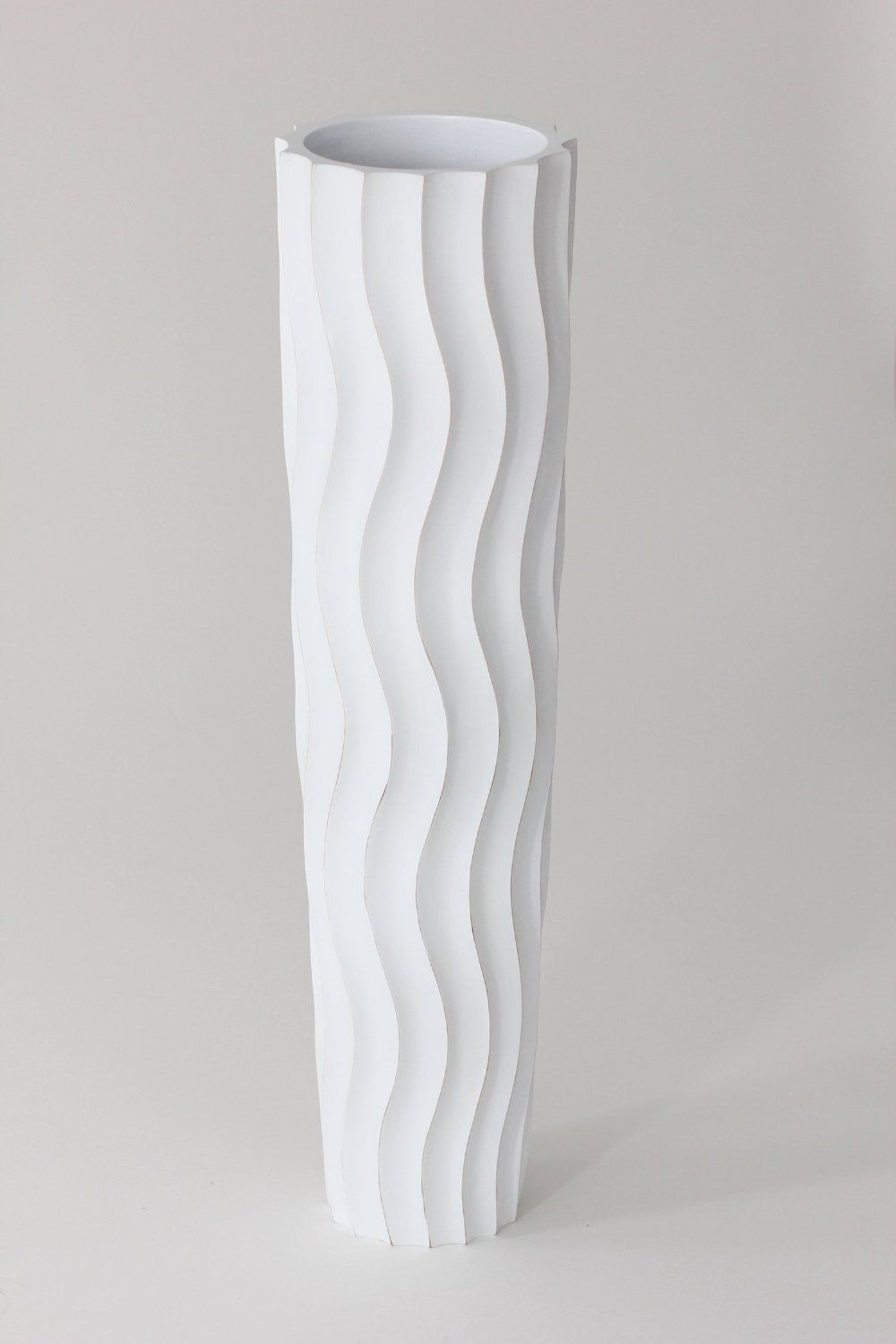 Tall floor vase 75 cm mango wood white amazon lighting tall floor vase 75 cm mango wood white amazon lighting izmirmasajfo