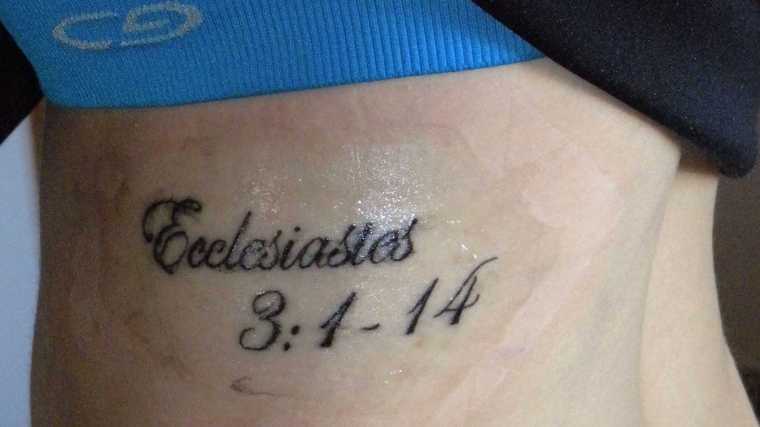 My favorite bible verse tattooed on my ribs tattoos