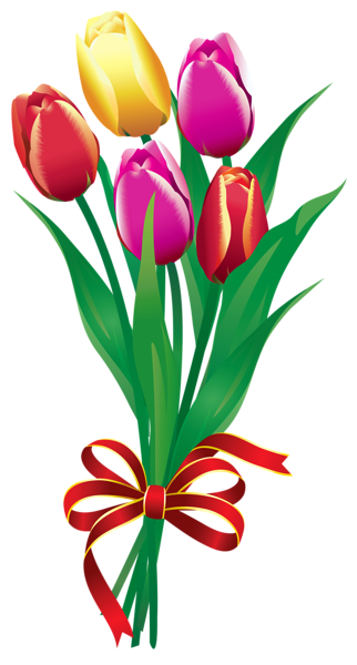 tulipas bouquet primavera png clip imagem pintura pinterest rh pinterest nz free bouquet of roses clipart bouquet of flowers clipart free