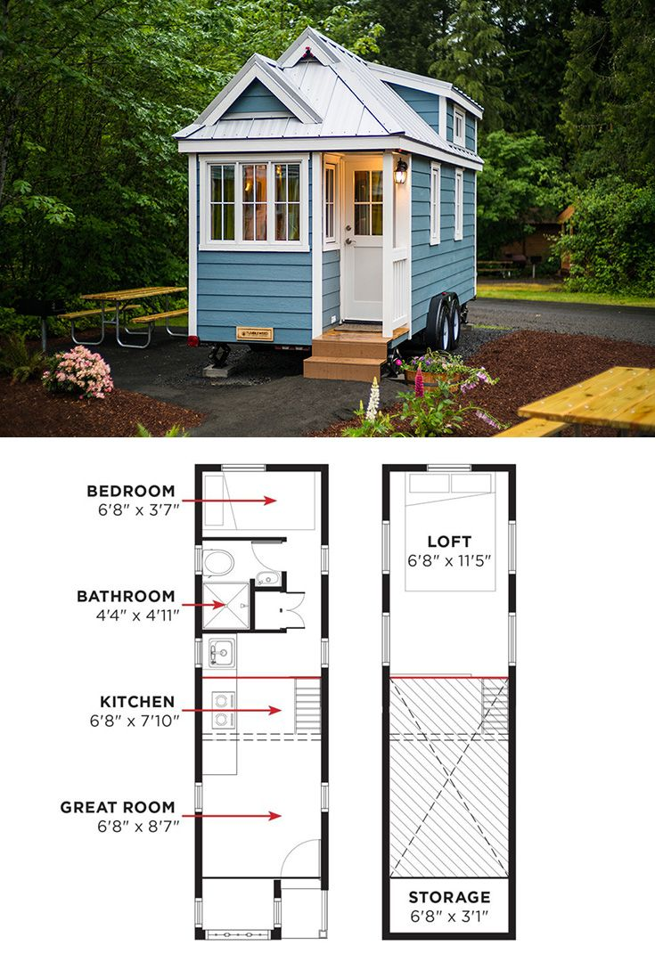 The Cypress Is Tumbleweed S Most Popular Model These Tiny House Plans Include Over 50 Pages Of Detailed In Tiny House Trailer Diy Tiny House Tiny House Nation