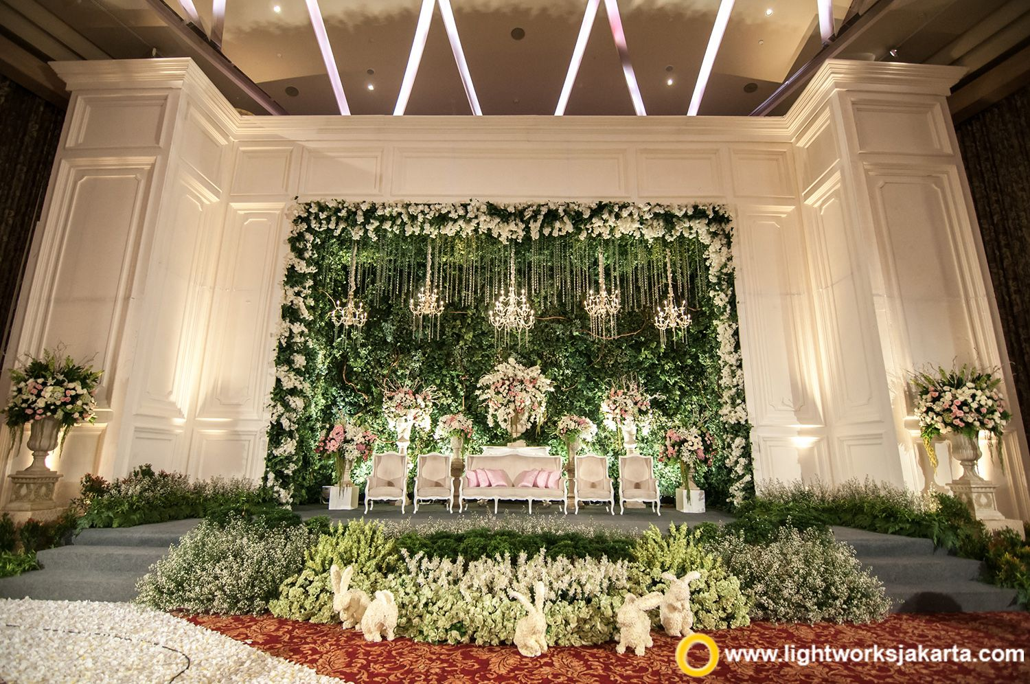 Wedding stage for christian and felicia wedding reception with wedding stage for christian and felicia wedding reception with garden as the theme decoration created junglespirit Gallery