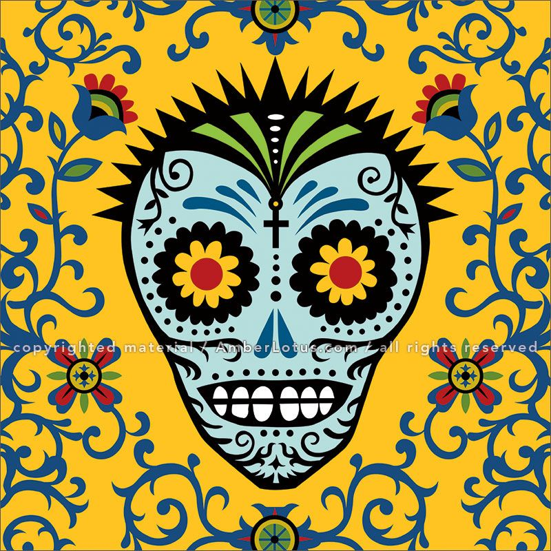 Day of the Dead 2017 Wall Calendar: Sugar Skulls features fantastic ...