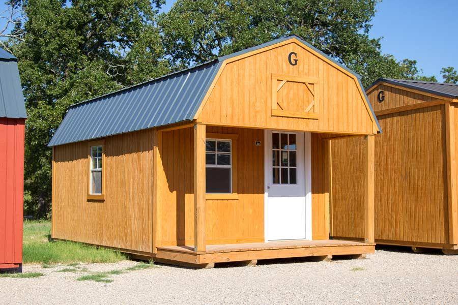 Lofted Barn Cabin built by Graceland Portable Buildings