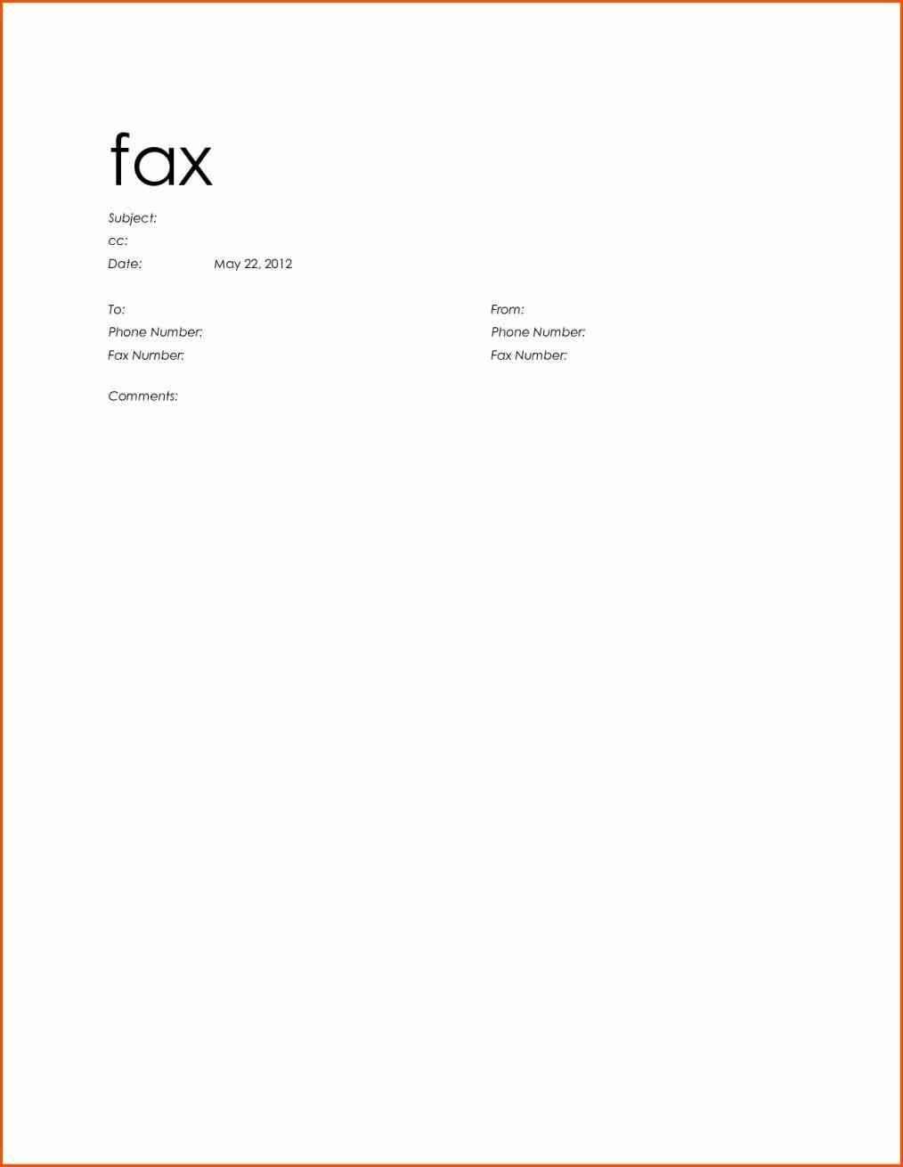 Basic Ms Word Fax Cover Sheet Fax Cover Need A Template Use This