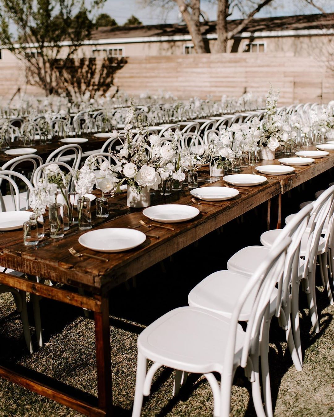 Farmhouse Dining Tables for Dallas Weddings and Events