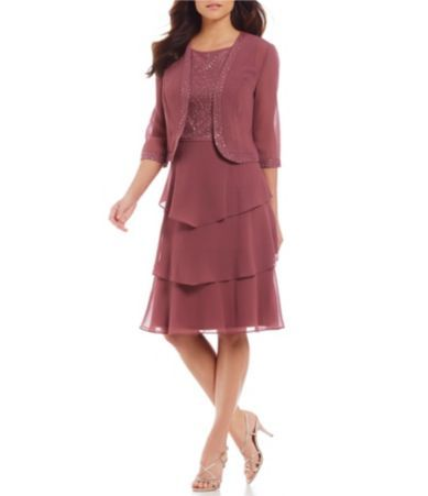 0e720d9385 Shop for Le Bos Embroidered Tiered 2-Piece Jacket Dress at Dillards.com.  Visit Dillards.com to find clothing