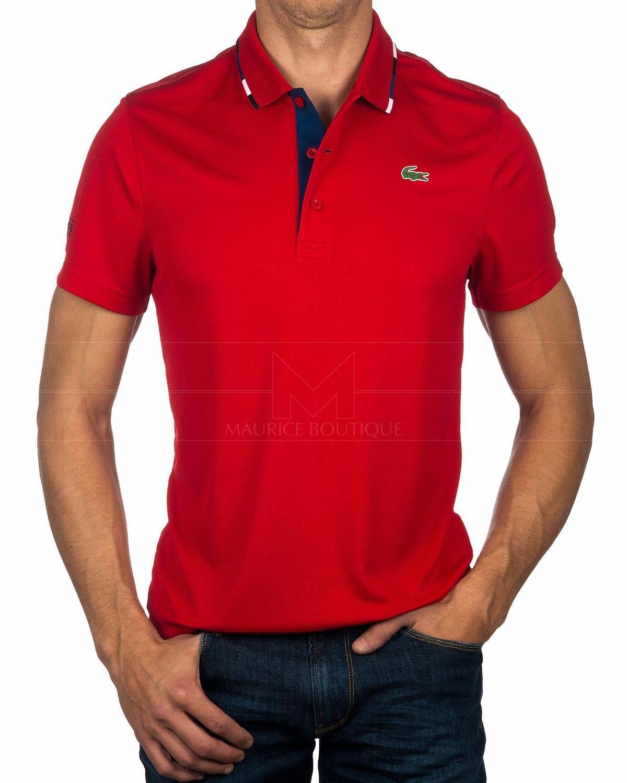 Polo LACOSTE ® Sport Rojo ✶ Polyes   ENVÍO GRATIS   Men s fashion ... 4e427186b0