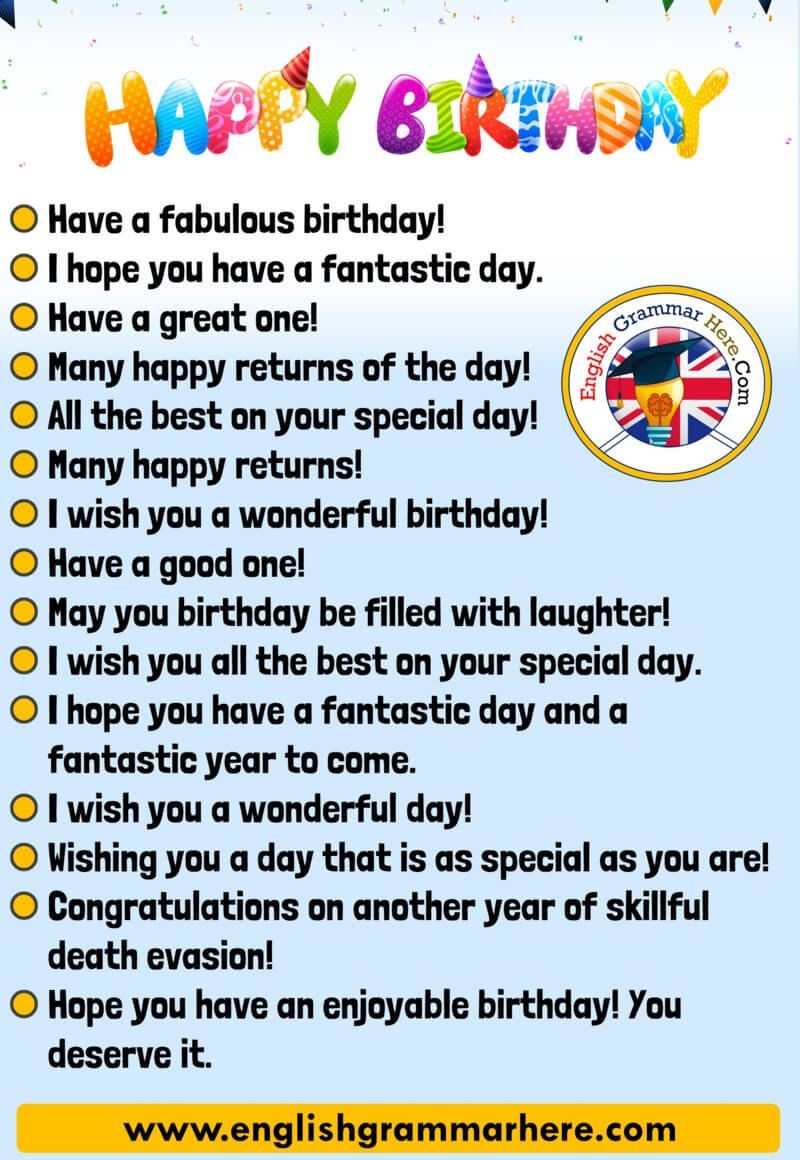 How to say Happy Birthday in Different Ways, Happy