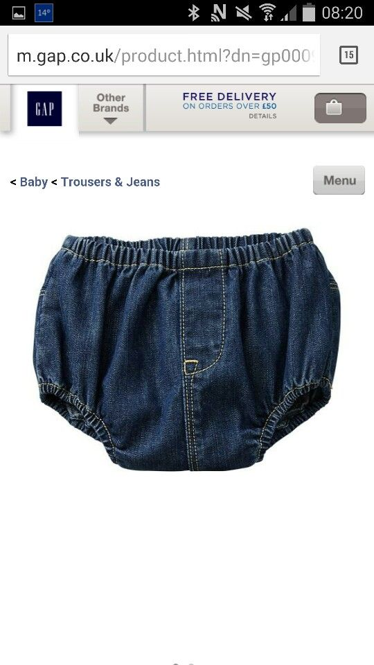 Denim nappy cover! Cute!