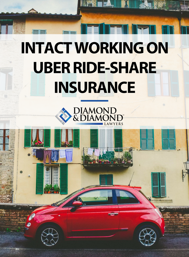Intact working on Uber rideshare insurance Uber ride