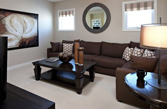 Brown Living Room Decor Couch, Dark Brown Furniture Paint