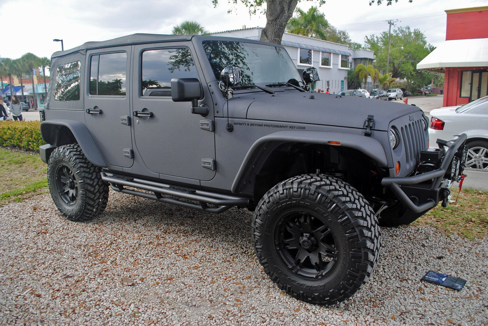Matte Grey Vinyl Wrapped Jeep Wrangler Jeep Wrangler Jeep