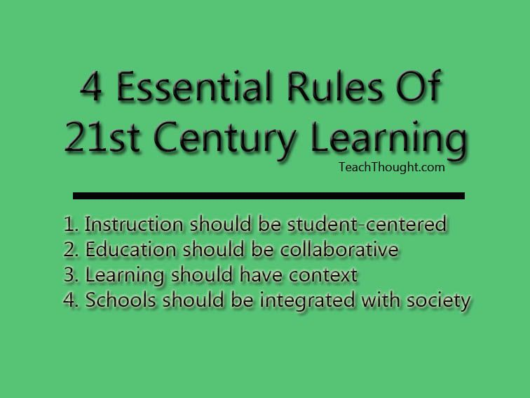 educational manifesto the 21st century classroom 21st century classrooms with 20th century learning theories the 20th century brought forth several changes in the field of education these changes include teaching methods and pedagogies, teaching and learning theories, and new perspectives on where america's education is heading.