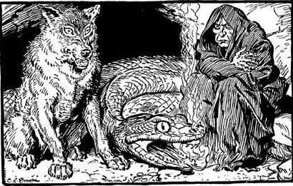 Image of Fenrir, Jormungandr, and Hel