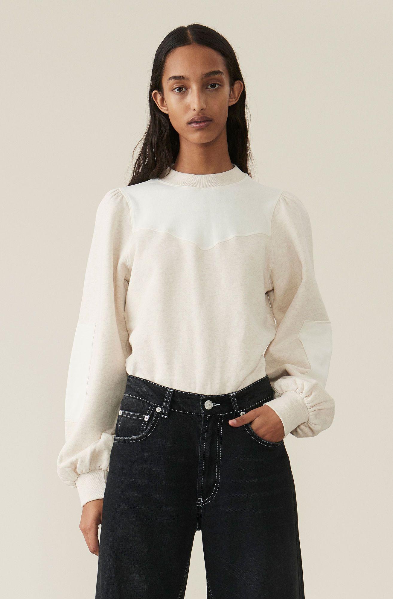 Isoli Puff Sweatshirt Tapioca Shopping Outfit Clothes Sweatshirts [ 2000 x 1314 Pixel ]