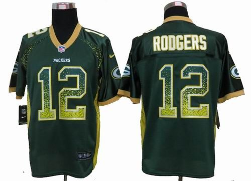 Nike Green Bay Packers #12 Aaron Rodgers green Elite Drift Fashion Jersey $ 22.5