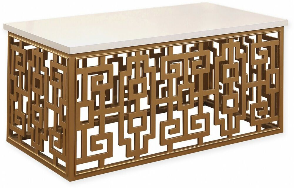 Abbyson Living Jaxton Coffee Table In Gold White Unbranded