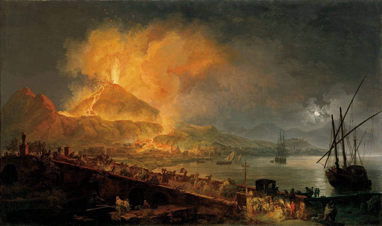 Mount Vesuvius 79 AD Eruption Ash Destroyed Pompeii And Herculaneum Micromount