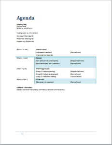 Meeting Agenda DOWNLOAD at http://www.templateinn.com/10-meeting ...
