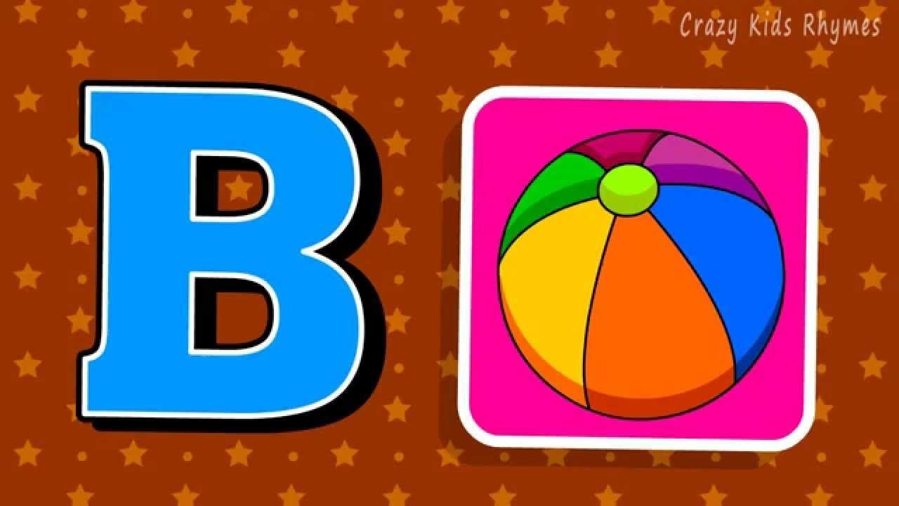 A Is For Apple B Is For Boll Nursery Rhyme Phonics Abc