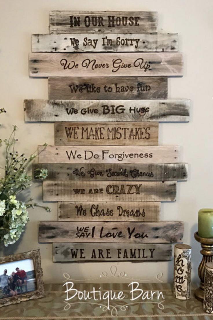 Family rules signwood signrustic signfamily artrustic wall decor