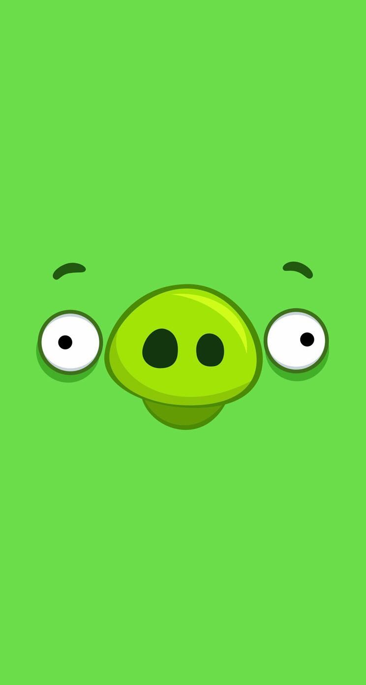 Angry Birds Pig Big Face Cartoon Parallax Wallpapers For Iphone