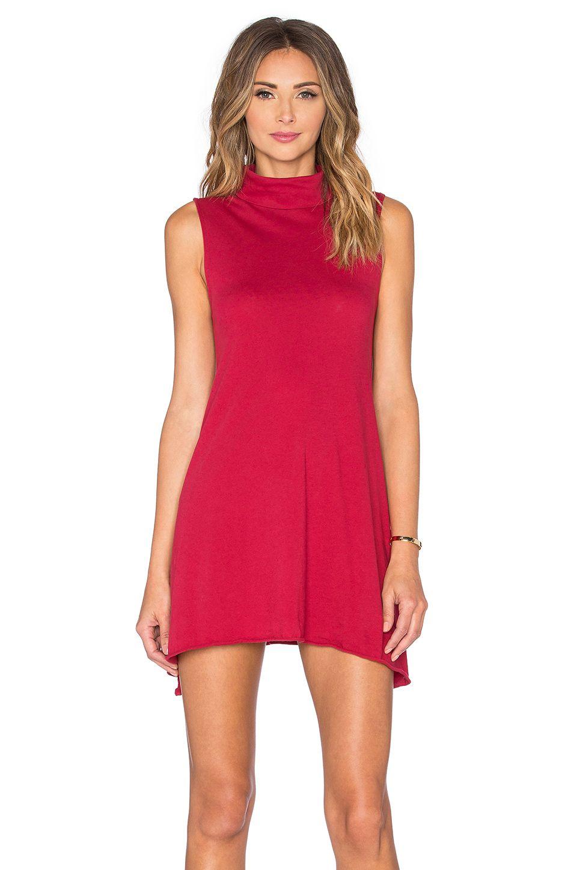 79a04fee76 BOBI LIGHT WEIGHT JERSEY TURTLENECK TANK DRESS.  bobi  cloth  dress ...
