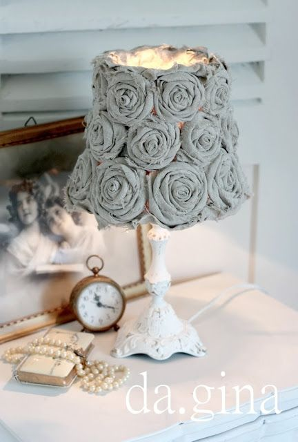 cover a lampshade with fabric roses lamps pinterest. Black Bedroom Furniture Sets. Home Design Ideas
